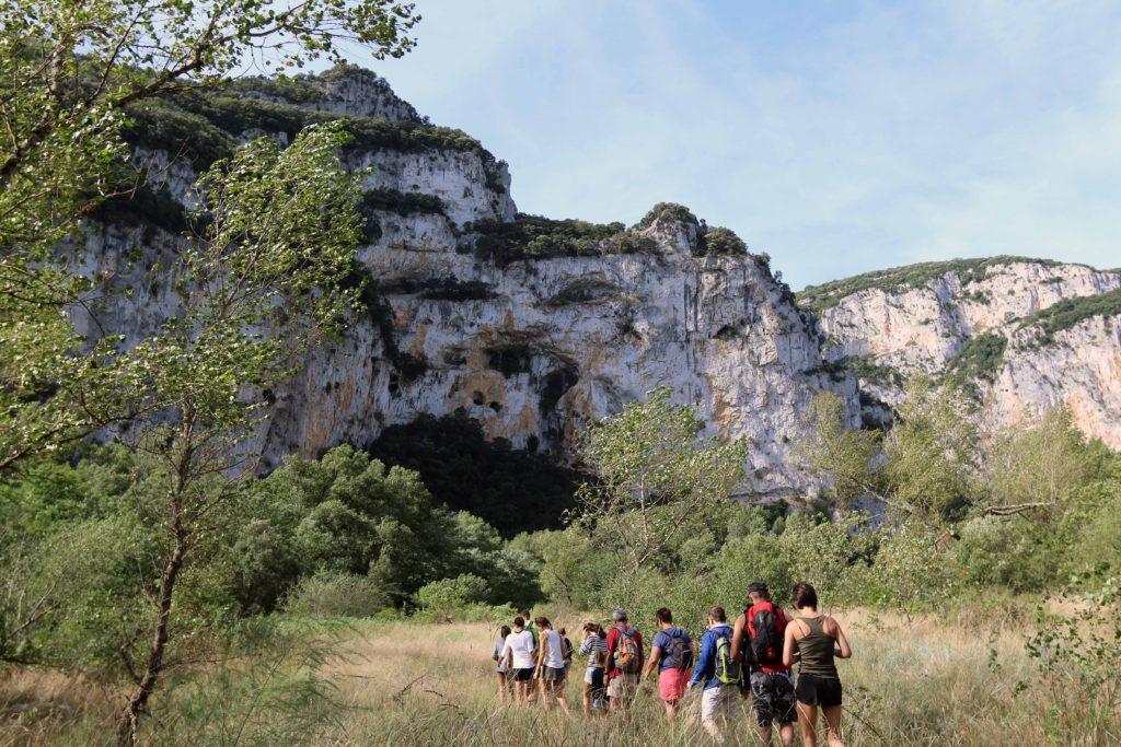 randonnées Gorges del'Ardèche Camping Le Vieux Vallon
